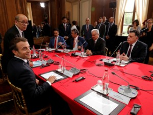 France-Macron-meets-Sarraj-and-Haftar300